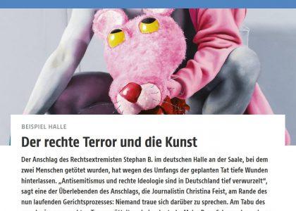 """Thumbnail for the post titled: """"Der rechte Terror und die Kunst"""""""